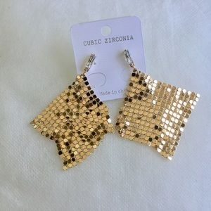 Mesh Earrings with Cubic Zirconia